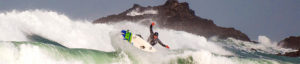 Surfer getting air